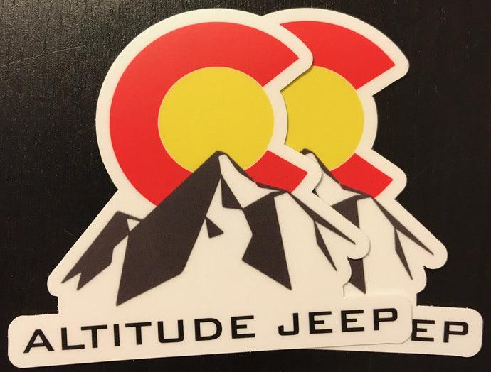 Altitude Jeep Sticker (x2) - Altitude Jeep