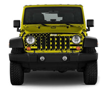 Clear Distressed USA Jeep Wrangler Grill Skin - Altitude Jeep