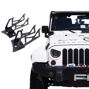 Windshield Hinge Lower Corner Dual Light Brackets - Altitude Jeep