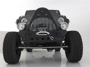 Smittybilt JK SRC Front Stinger with D-ring Mounts in Textured Matte Black (Black) - Altitude Jeep