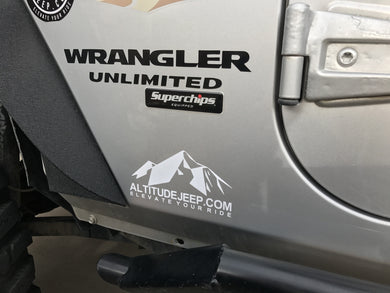 Altitude Jeep Mountain Vinyl Decals (2x) - Altitude Jeep