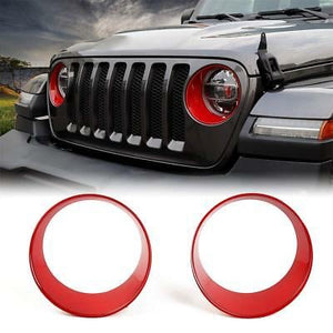 Angry Eyez Headlight Inserts for '18-2019+ JL/JLU Jeep Wrangler