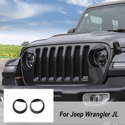 Jeep Wrangler Unlimited Grill >> Angry Eyez Headlight Inserts for '18-2019+ JL/JLU Jeep Wrangler – Altitude Jeep