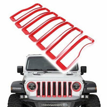 Grille and/or Headlight Inserts in Red, Black, Silver and Multi Color for '18 JL/JLU Jeep Wrangler