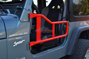 Custom Painted TJ Steel Tube Doors - Altitude Jeep