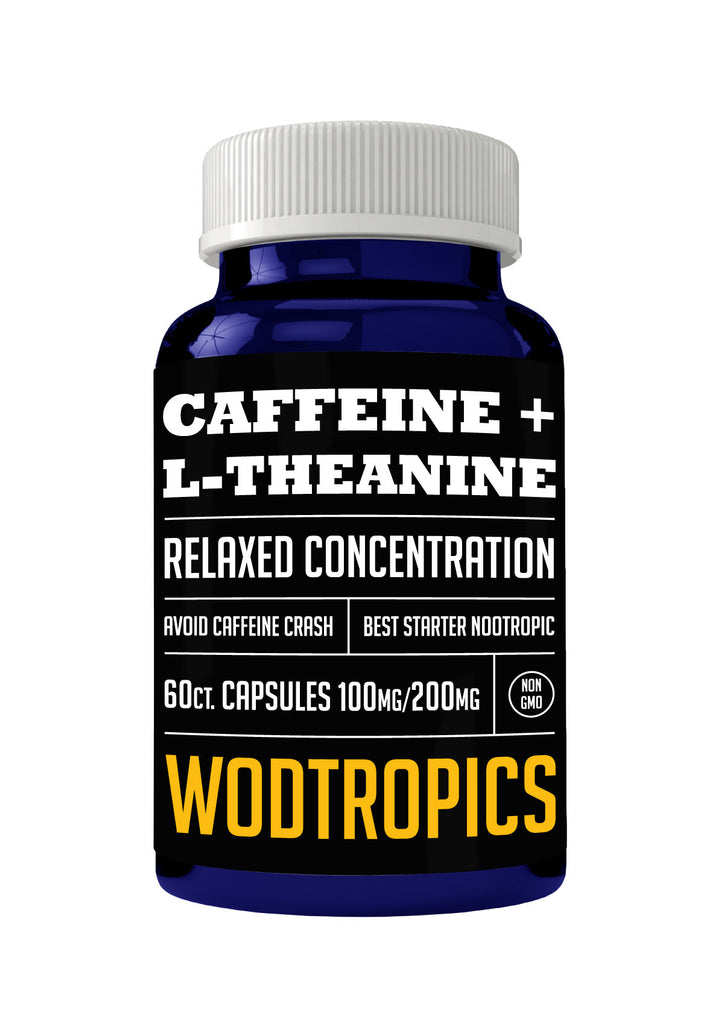 Caffeine + L-Theanine Capsules - 60 Servings