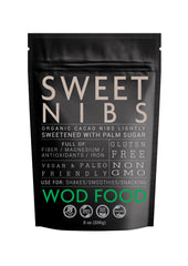Organic Fair Trade Sweet Nibs, Lightly Sweetened with Palm Sugar