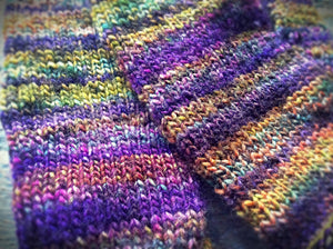 Women's purple mittens - machine washable - Lambs Ears Knits