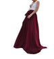 Dark Red high waist maxi skirt