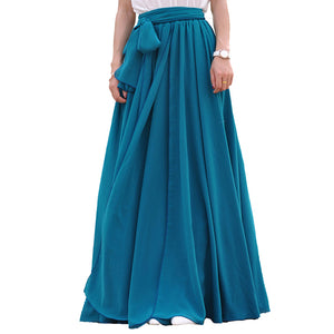 Teal custom made skirts