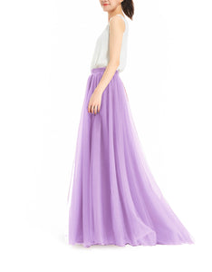 Melansay Women's Wedding Party Tutu Floor Length Tulle Skirt High Waist Long Maxi Skirt Customize