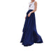 Navy Blue high waist chiffon maxi skirt for wedding