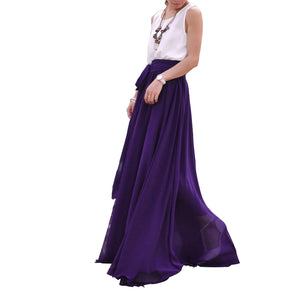 Purple elegant wedding dress