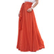 Melansay Beatiful Bow Tie Summer Beach High Waist Chiffon Maxi Skirt