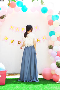 Chiffon Long Flowy Skirt  With Pockets