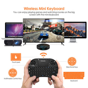 Aitumko Mini Bluetooth Keyboard with 2.4GHz Touchpad Portable Wireless Keyboard with Rechargeable Battery for Laptop / PC / Windows / TV / Xbox / PS3