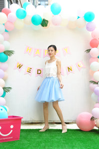 Sky Tulle Skirt/Bridesmaid Skirt/Fluffy Tulle Skirt/Floor length Tutu Skirt For Women/Bridesmaids Outfits T320
