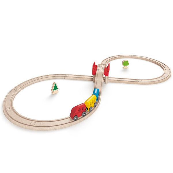 Hape Wooden Toy Railway Set