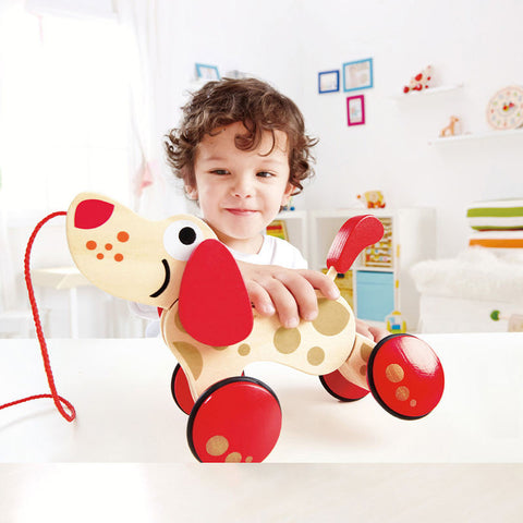 Hape Wooden Toy Walk-A-Long Puppy
