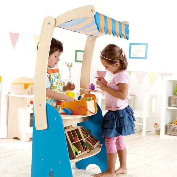 Hape Wooden Toy Fresh Food Market Stand
