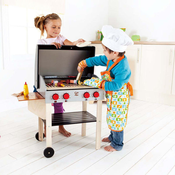 Hape Wooden Toy BBQ Gourmet Grill With Food