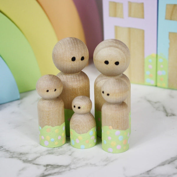 Wooden Peg Dolls Handmade