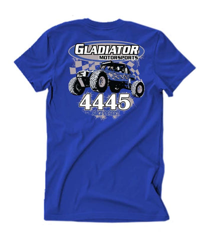 Mens Gladiator Motorsports Ultra4 T-Shirt - Blue