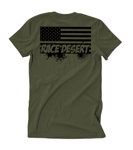 Mens Desert Nation T-Shirt - Military Green