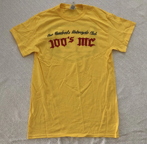 Mens 50th Anniversary 100's MC Yellow T-Shirt
