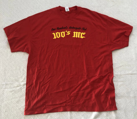 Mens 50th Anniversary 100's MC Red T-Shirt