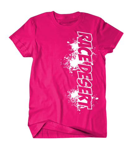 Kids Race Desert Splatter T-Shirt - Pink
