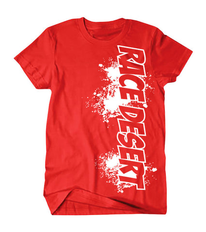 Kids Race Desert Splatter T-Shirt - Red
