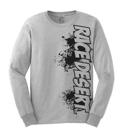 Race Desert Splatter Long Sleeve Shirt - Grey