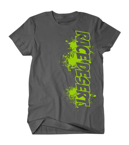 Mens Race Desert Splatter T-Shirt - Limited Edition - Grey