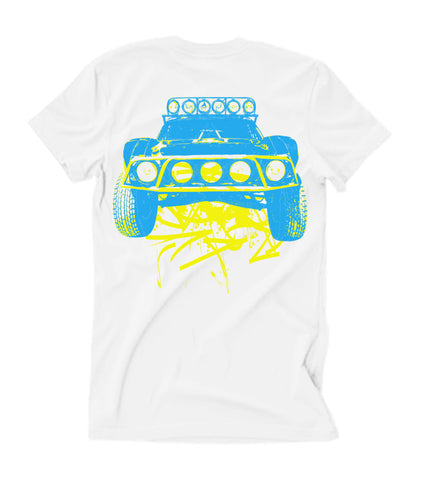 Kids Dirty Beast - White T-Shirt - Retro Colors