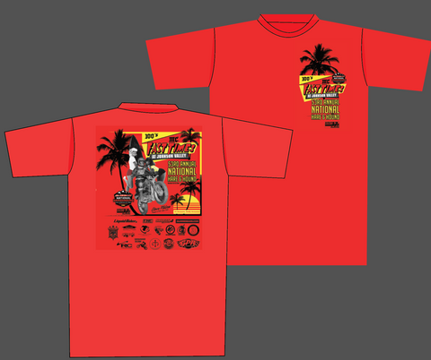"100's MC Official ""Fast Times at Johnson Valley"" - 53rd Annual National Hare & Hound Event Shirt"