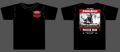 Four Aces 2019 Moose Run Official Event Shirt