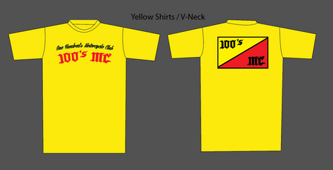 Mens 2020 100's MC Yellow T-Shirt
