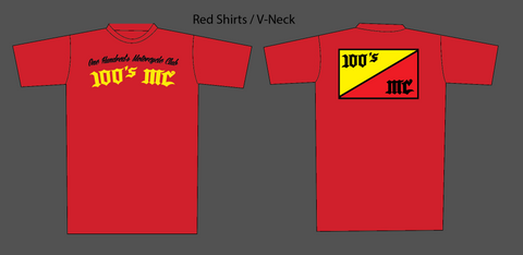 Mens 2020 100's MC Red T-Shirt
