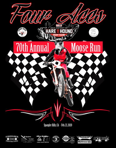 Four Aces 2020 Moose Run Official Event Shirt