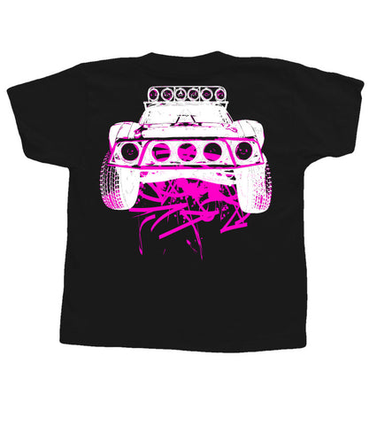Toddlers Dirty Beast T-Shirt -  Black w/ Pink