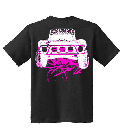 Kids Dirty Beast T-Shirt - Black w/ Pink