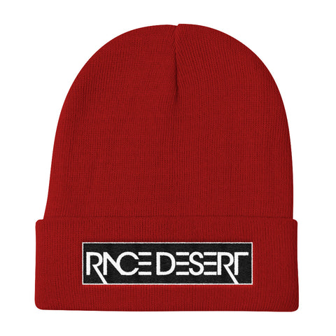 Red Race Desert Stencil Beanie