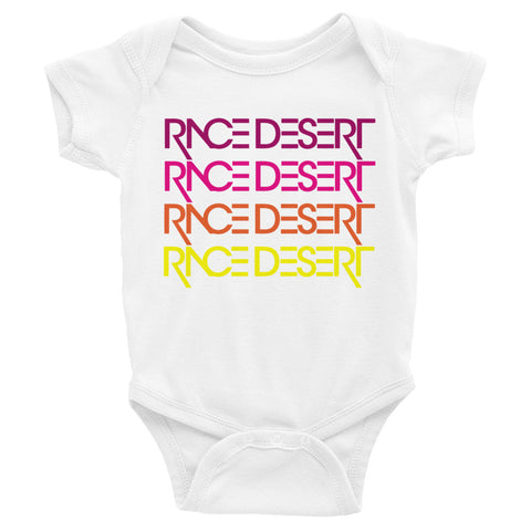 Babies Race Desert Sunset Onesie - White