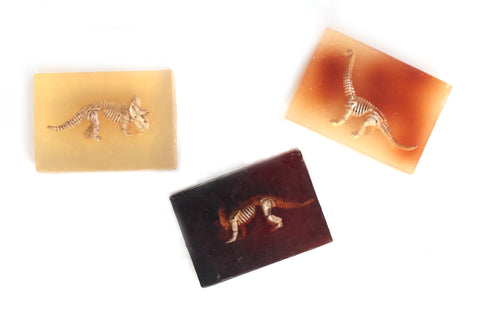 Dinosaur Soap: Honey-Based Satsuma Orange Dinosaur Soap Bar