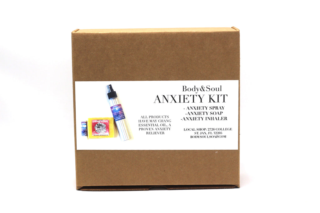 Anti-Anxiety Kit: Anti-Anxiety Soap, Spray and Essential Oil Inhaler Gift Set
