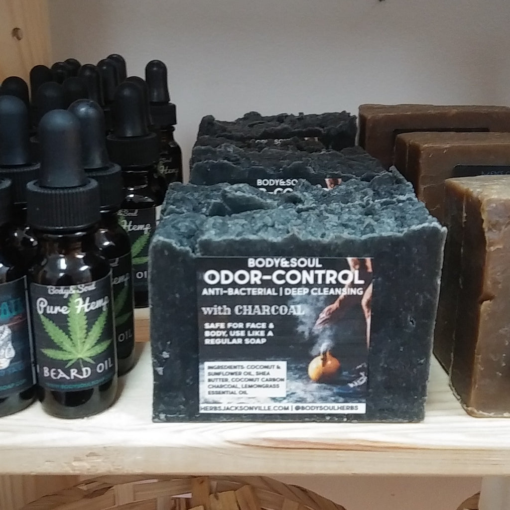 Odor-Control Black Charcoal Soap