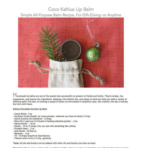 E-Book: Coco Kahlua Lip Balm Recipe