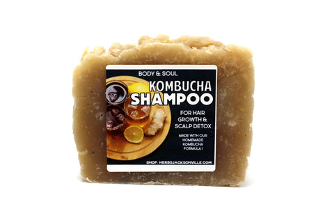 Kombucha Shampoo Bar - For Hair Growth, Dandruff, and Scalp Issues