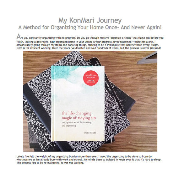 E-Book: My Kon Mari Journey: A Method for Organizing Your Home Once and Never Again
